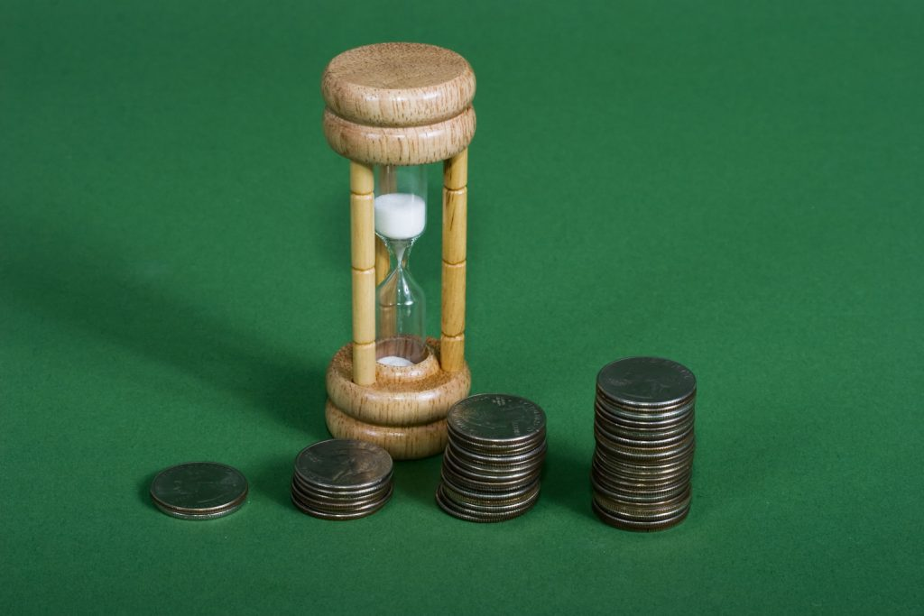 Compounding interest over a period of time