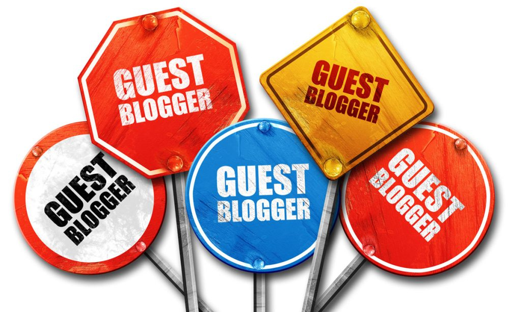 Guest Blogger signs